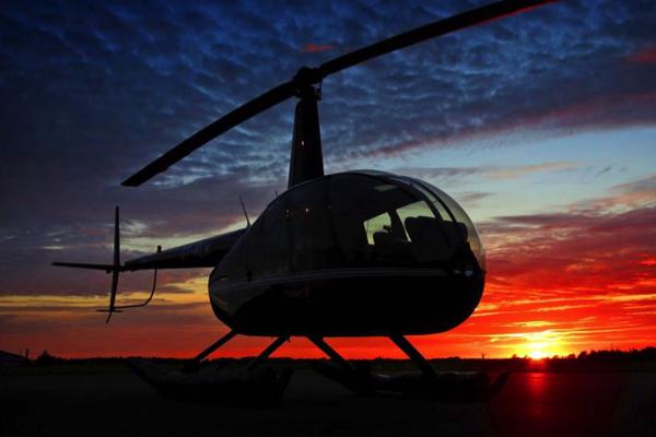 Helikoptertur med Herning Helicopters