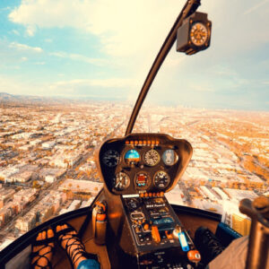 Se Danmark oppe fra med en helikoptertur